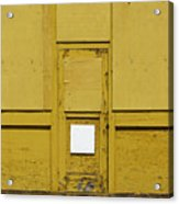 Yellow Door With Accent Acrylic Print