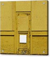Yellow Door With Accent Acrylic Print