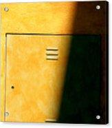 Yellow Escape Acrylic Print