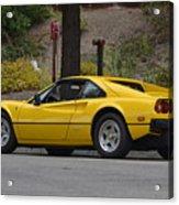 Yellow Ferrari Acrylic Print