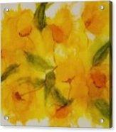 Yellow Floral Acrylic Print