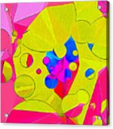 Yellow Flower In Pink Field 008 Acrylic Print