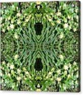 Yellow Flower Mandala 1 Acrylic Print