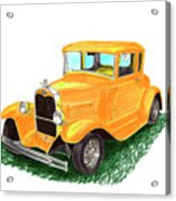 1932 Yellow Ford Hot Rod Coupe Acrylic Print