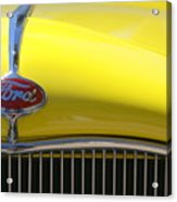 Yellow Ford Acrylic Print