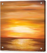 Yellow Gold Sunset Acrylic Print