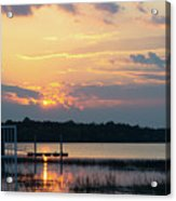 Yellow Gold Sunset Tapestry Acrylic Print