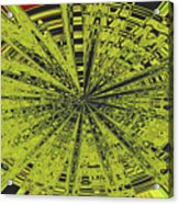 Yellow Green Black Abstract Acrylic Print