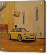 Yellow Gt3 Porsche Acrylic Print