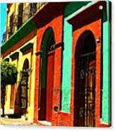 Yellow House By Michael Fitzpatrick Acrylic Print by Mexicolors Art Photography