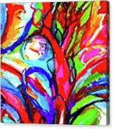 Yellow Iris Abstract Acrylic Print