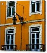 Yellow Italian Building Acrylic Print