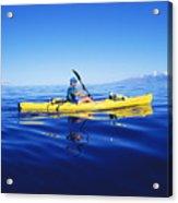 Yellow Kayak Acrylic Print