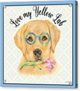 Yellow Lab-jp3869 Acrylic Print