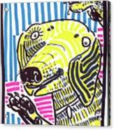 Yellow Lab Acrylic Print by Robert Wolverton Jr
