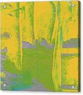 Yellow Ladders Acrylic Print