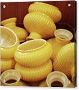 Yellow Lampshades Acrylic Print