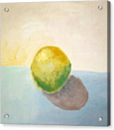 Yellow Lemon Still Life Acrylic Print