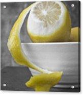 Yellow Lemons Acrylic Print