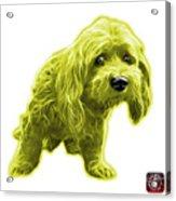 Yellow Lhasa Apso Pop Art - 5331 - Wb Acrylic Print