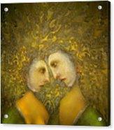 Yellow Lovers Acrylic Print