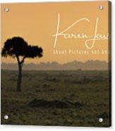 Yellow Mara Dawn Acrylic Print