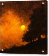 Yellow Moon Acrylic Print