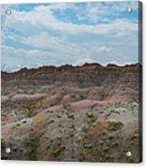 Yellow Mounds Panorama At Badlands South Dakota Acrylic Print