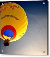 Yellow Pages Balloon Acrylic Print