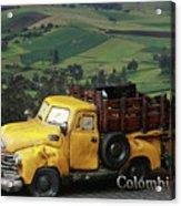 Yellow Pick-up Truck Acrylic Print