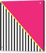 Yellow Pink And Black Geometric 2 Acrylic Print