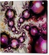 Yellow Pink Spiral Art Acrylic Print