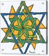 Yellow Pinnwheel Acrylic Print