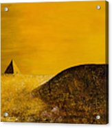 Yellow Pyramid Acrylic Print