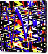 Yellow Red Blue Black And White Abstract Acrylic Print