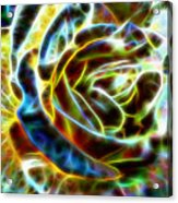 Yellow Rose Fractal Acrylic Print