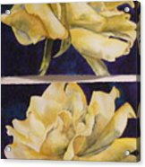 Yellow Roses Diptych Acrylic Print