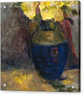 Yellow Roses Acrylic Print by Rita Bentley