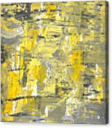 Yellow Sadness Acrylic Print