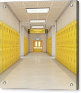 Yellow School Lockers Light Acrylic Print