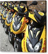 Yellow Scooters Acrylic Print