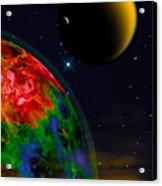 Yellow Sea On Kepler 186d Acrylic Print