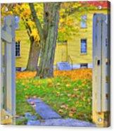 Yellow Shaker House Gate Acrylic Print