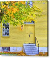 Yellow Shaker House Acrylic Print