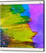 Yellow Sidewind Acrylic Print