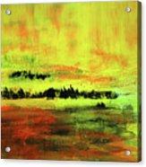 Yellow Sienna Black Acrylic Print