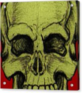 Yellow Skull Acrylic Print