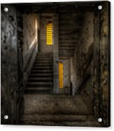 Yellow Stairs Acrylic Print