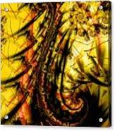 Yellow Symbol Design Acrylic Print