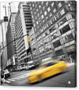 Yellow Taxi Nyc Acrylic Print
